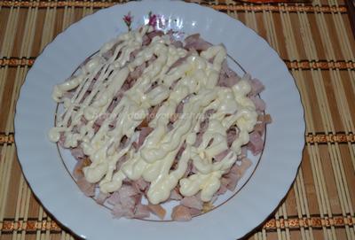 Как приготовить салат подсолнух