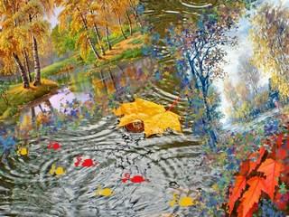 Картинки осеннего дождя