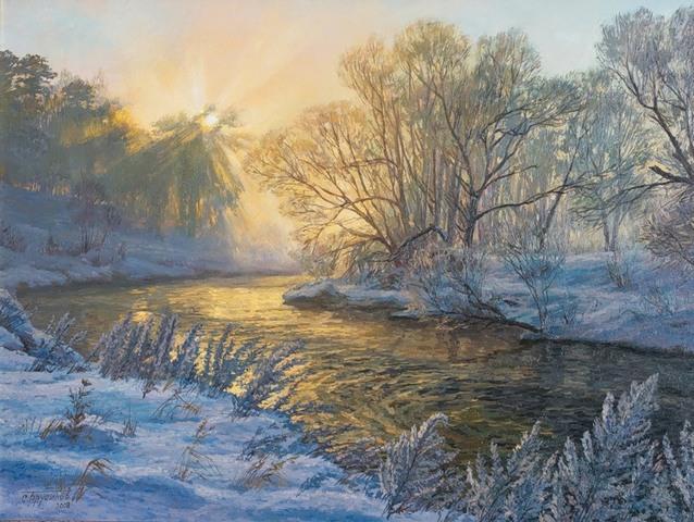 Зима в живописи.