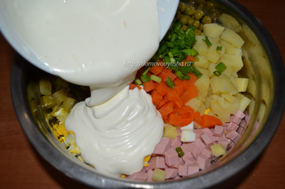 Салат оливье пошаговый рецепт с фото