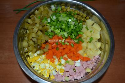 Рецепт салата оливье с фото пошаговый рецепт