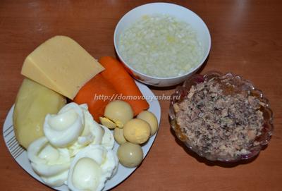 салат мимоза рецепт классический с сыром с фото