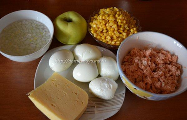 Салат с красной рыбой пошаговый рецепт с фото