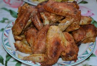 рецепт приготовления куриных крылышек в духовке с медом