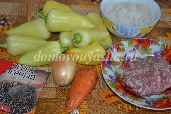 Заготовка фаршированного перца с мясом