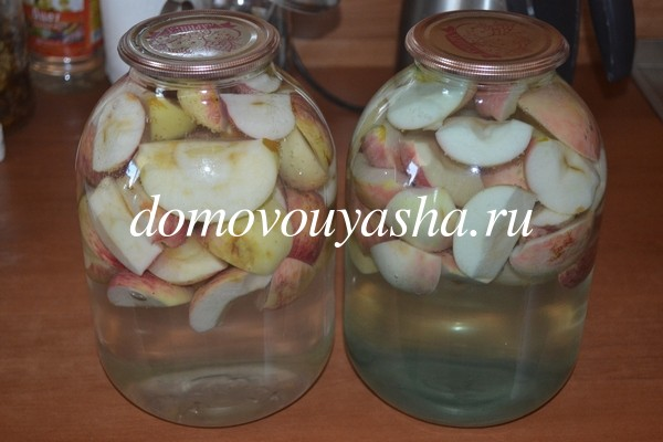 компот из яблок на зиму рецепт