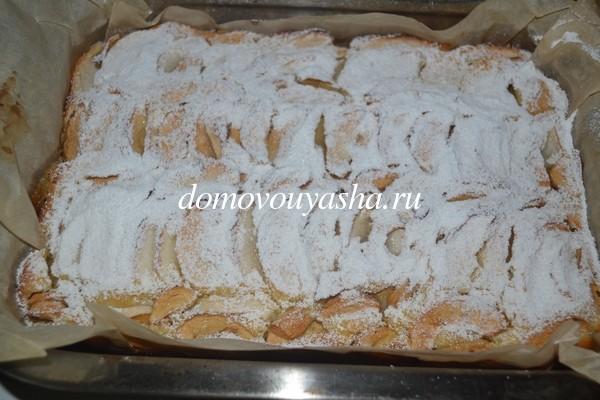 пирог с яблоками рецепт пошаговый