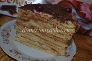 Медовый торт Рыжик рецепт с заварным кремом