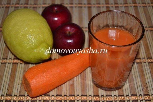 Свежевыжатый морковный сок польза