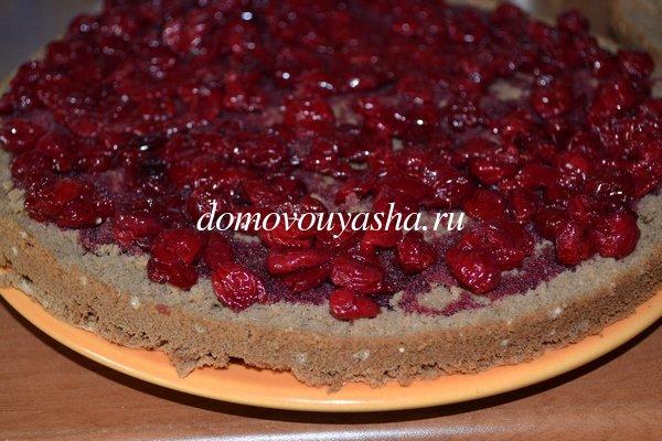 Бисквитный торт с вишней фото рецепт