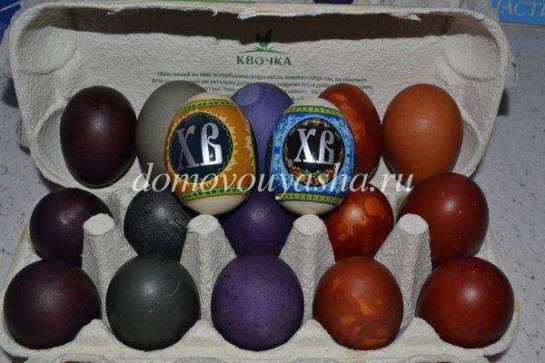 как покрасить яйца натуральными красителями