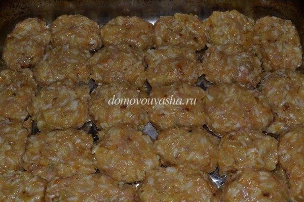 куриные тефтели с рисом фото рецепт