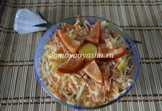 Салат с редькой и морковкой