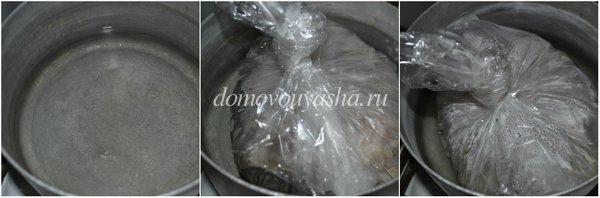 как варить сало в пакете