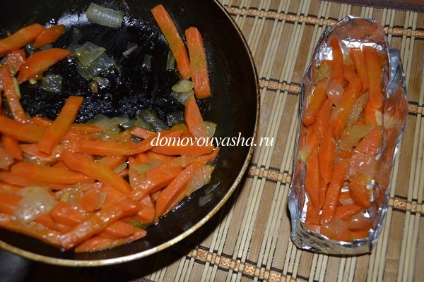 красная рыба запеченная с овощами