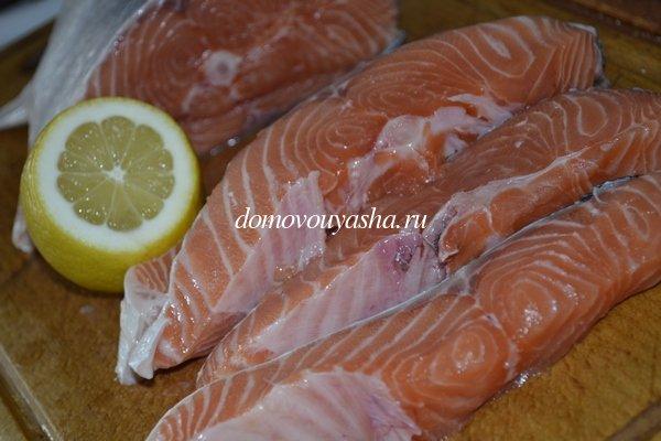 вкусная красная рыба запеченная в духовке с овощами и твердым сыром