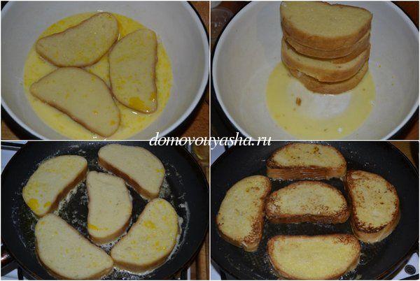 Как сделать гренки из батона с яйцом и молоком