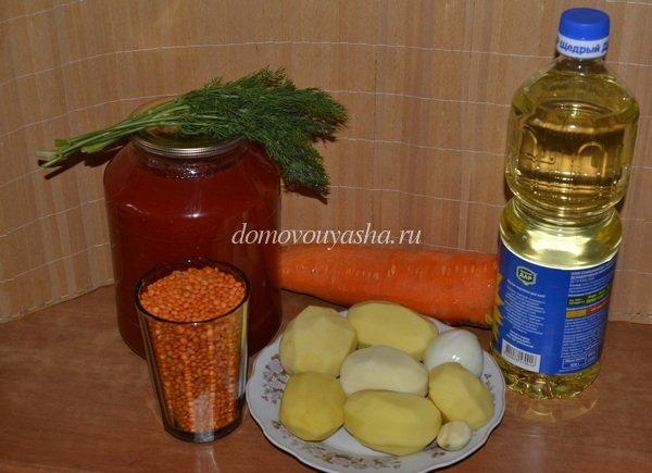 постный суп из чечевицы рецепт с фото
