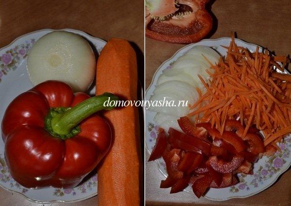 Скумбрия фаршированная овощами запеченная в духовке