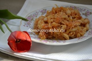 тушеная капуста с фасолью рецепт