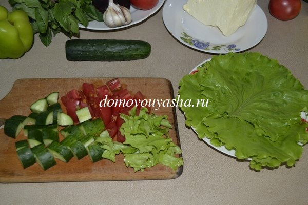 Как сделать греческий салат пошагово с фото