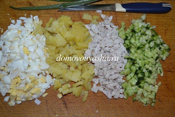 Как приготовить вкусную окрошку на кефире с колбасой