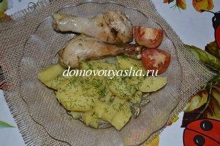 Как приготовить куриные ножки с картошкой в духовке