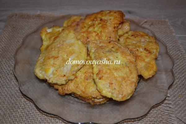 Филе индейки на сковороде в кляре рецепт с пошагово