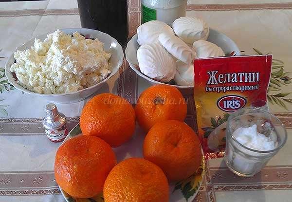 Десерт из творога с желатином с фото