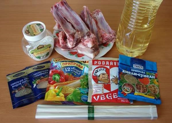 Приготовление свиных ребрышек в духовке в рукаве