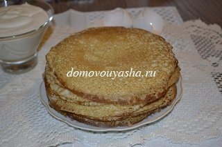 Ажурные блины на кефире и молоке рецепт с фото