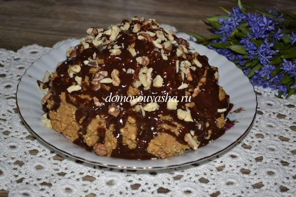 Торт муравейник из печенья со сгущенкой рецепт