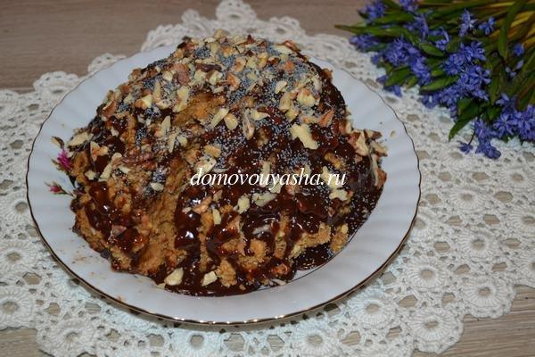 Быстрый торт муравейник из печенья со сгущенкой рецепт