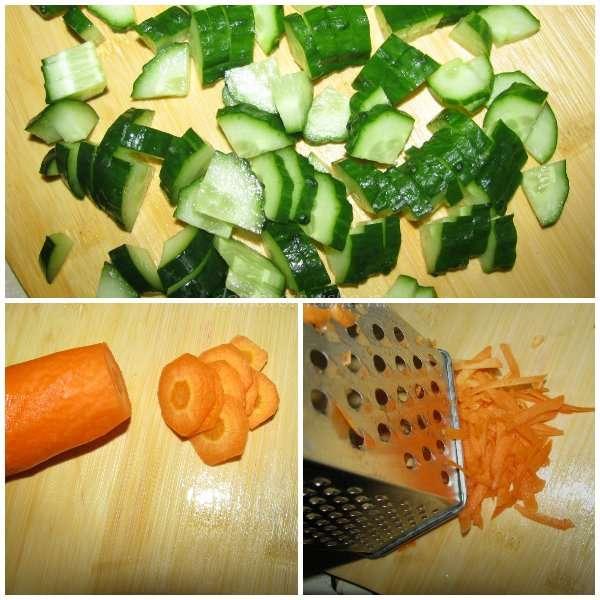 Витаминный салат капуста морковь яблоко
