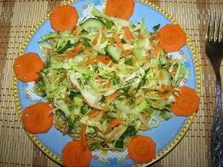 Витаминный салат с капустой рецепт с фото