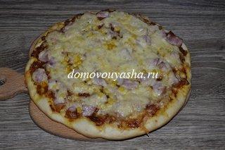 Рецепт теста для пиццы на сухих дрожжах