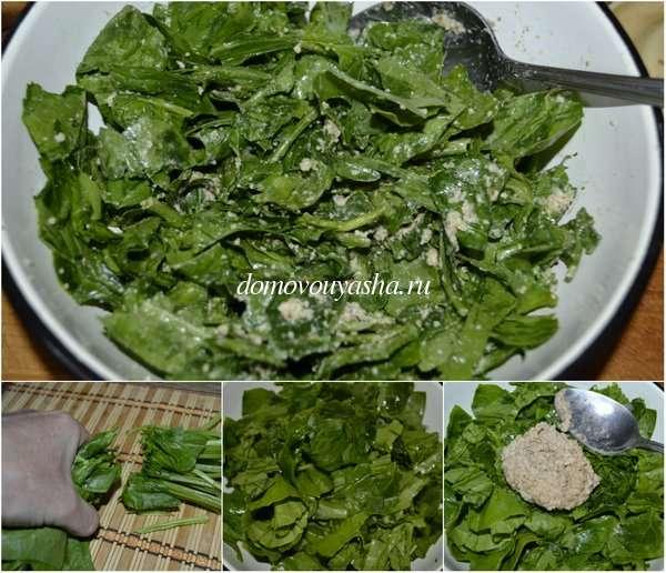 Простой и постный салат со шпинатом рецепт с фото