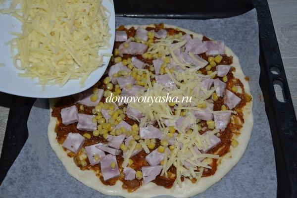 Тонкая и хрустящая пицца рецепт