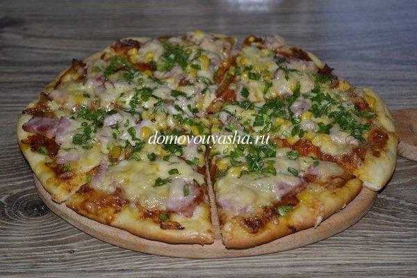 Тонкая и хрустящая пицца