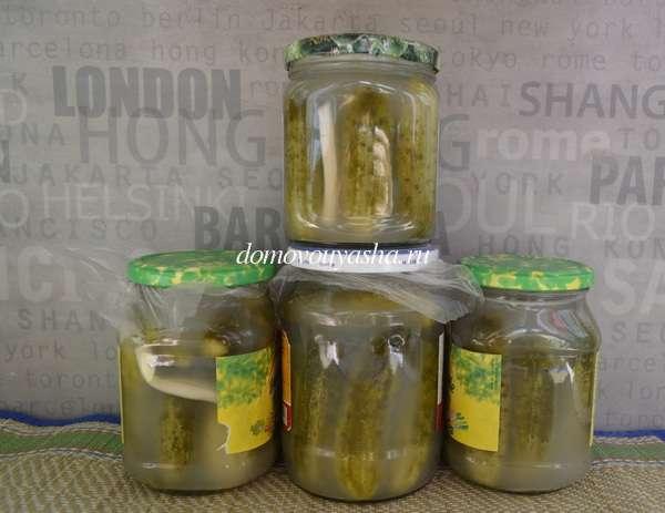 Рецепт вкусных соленых хрустящих огурцов
