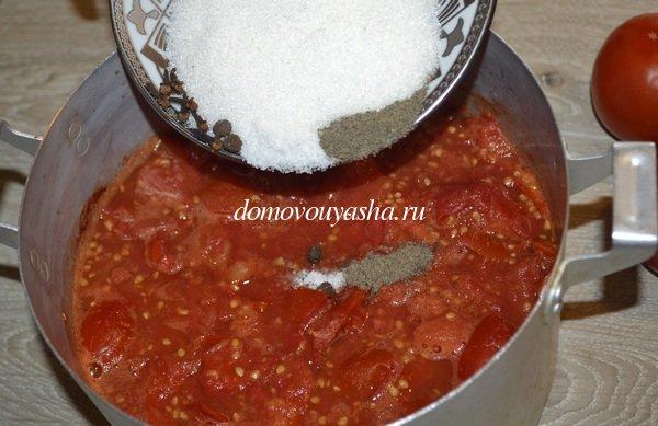 Домашний соус из помидор на зиму