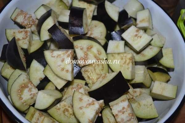 Баклажаны в томате с чесноком на зиму