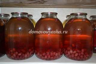 Как приготовить компот из кизила на зиму