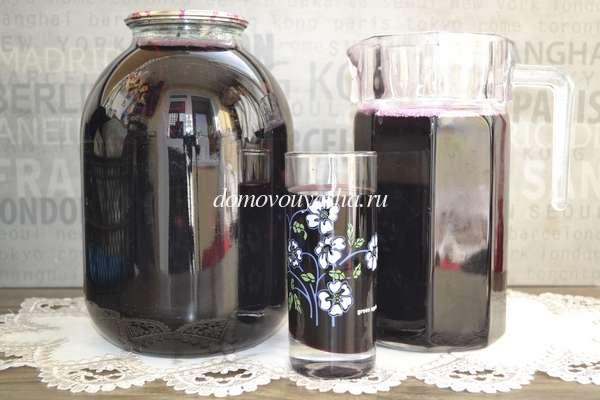 Компот из винного винограда на зиму рецепт