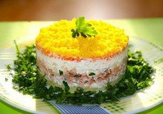 Салат мимоза слои по порядку