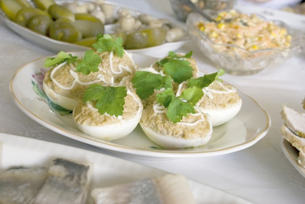Яйца фаршированные печенью