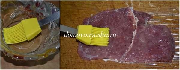Мясные рулетики из телятины с начинкой
