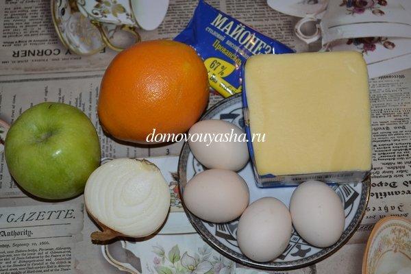 Салат Дипломат - с апельсином
