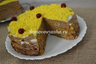 Вкусный торт из куриной печени