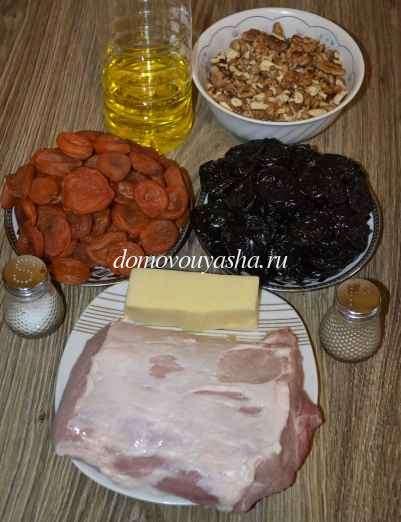 Мясные рулетики из свинины с черносливом